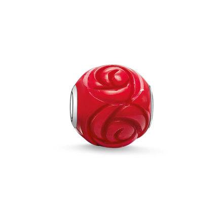 Thomas Sabo Kırmızı Gül Karma Beads K0038-590-10