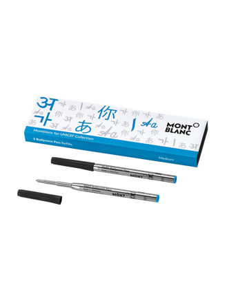 Montblanc 2 Ballpoint Pen Refill (M) Unicef Blue 116220