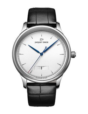 Jaquet Droz Grande Heure Minute Quantieme Silver J017530240