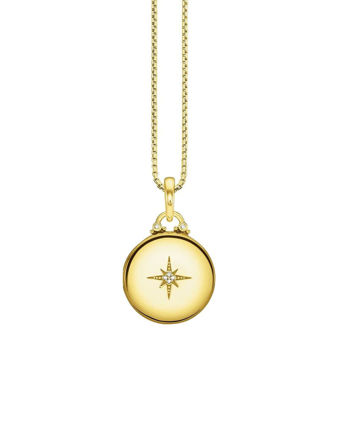 Thomas Sabo Locket Gold Round Kolye D_KE0036-924-14-L45