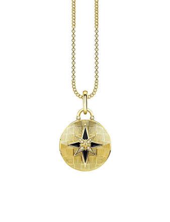 Thomas Sabo Locket Nautical Star Round Kolye D_KE0037-895-25-L45