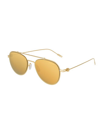 Montblanc Aviator Frame Metal Güneş Gözlüğü 123988