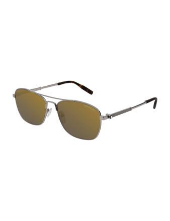 Montblanc Navigator Frame Metal Güneş Gözlüğü 123991