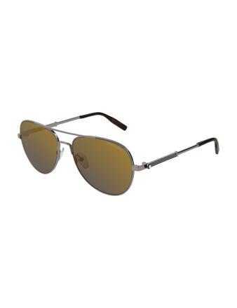 Montblanc Navigator Frame Metal Güneş Gözlüğü 123994