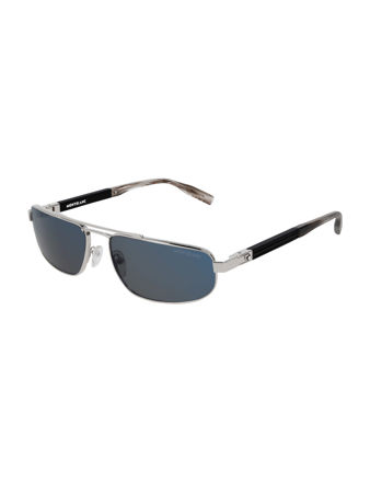 Montblanc Rectangular Frame Metal Güneş Gözlüğü 123995