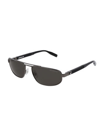 Montblanc Rectangular Frame Metal Güneş Gözlüğü 123996
