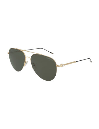 Montblanc Aviator Frame Metal Güneş Gözlüğü 123998