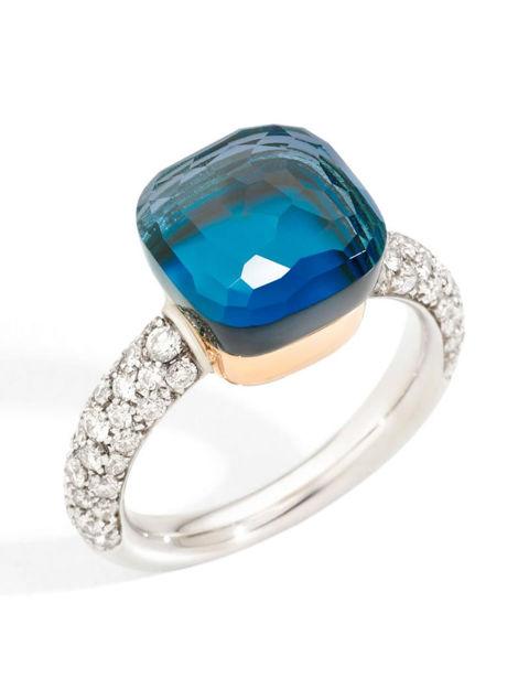 Pomellato Nudo Classic London Blue Yüzük PAC0040O6WHRB0TTU
