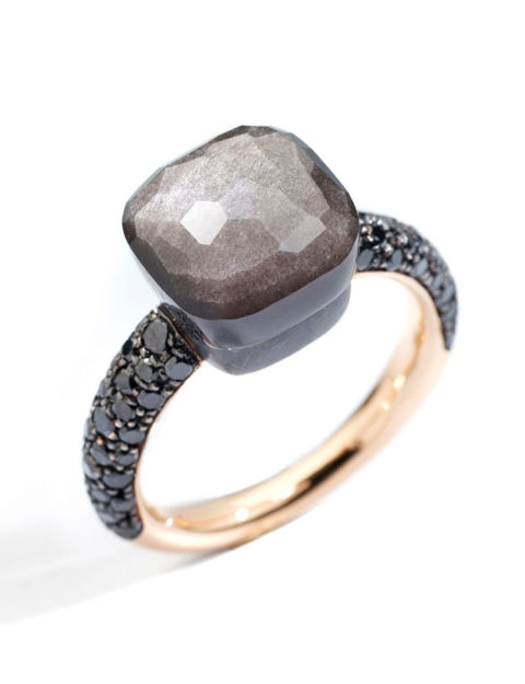 Pomellato Nudo Klasik Titanyum Siyah Pırlanta Yüzük PAB9050OT000DBKOS