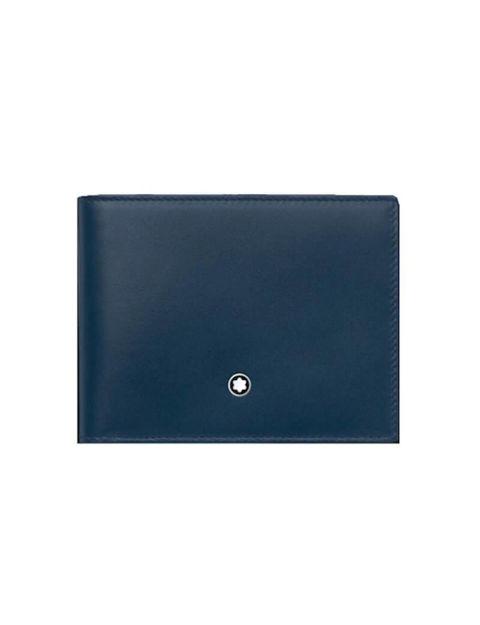 Montblanc Meisterstück Cüzdan, Mavi, Deri, 6 cc 126205