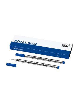 Montblanc 2'li Rollerball Yedeği Fine Royal Blue 128232