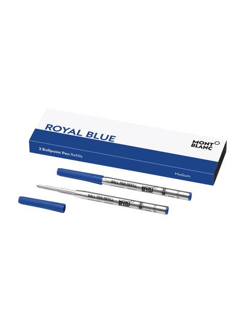 Montblanc 2'li Tükenmez Kalem Yedek Medium Royal Blue 128214