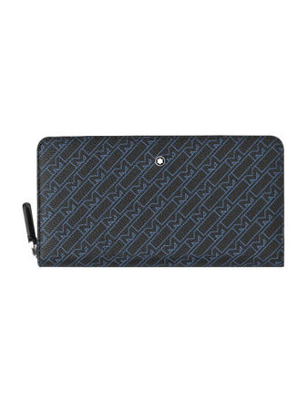 Montblanc M_Gram 4810 Fermuarlı Mavi Cüzdan 12cc 127441