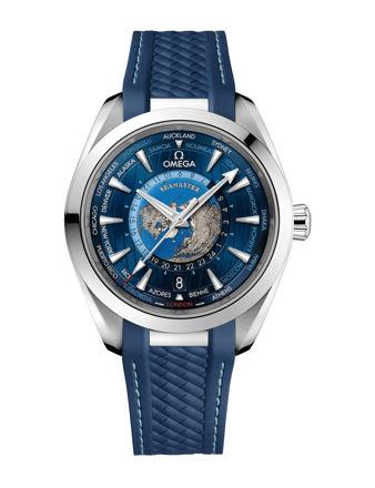 Omega Seamaster Aqua Terra 150M Co‑Axial Master Chronometer Gmt Worldtimer 43 mm 220.12.43.22.03.001