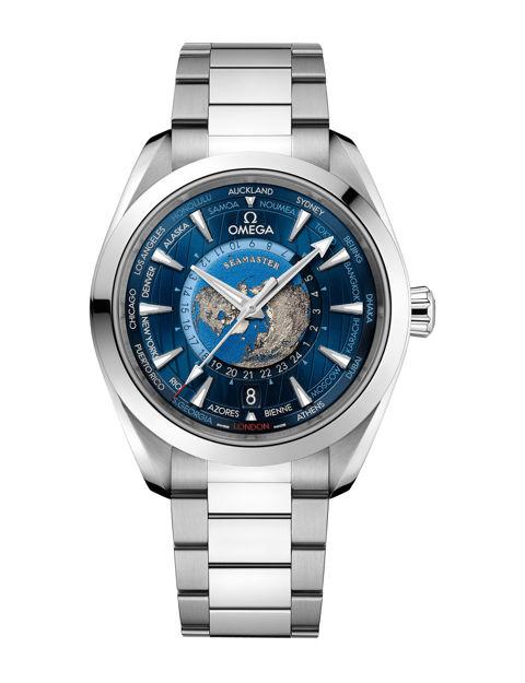 Omega Seamaster Aqua Terra 150M Co‑Axial Master Chronometer Gmt Worldtimer 43 mm 220.10.43.22.03.001