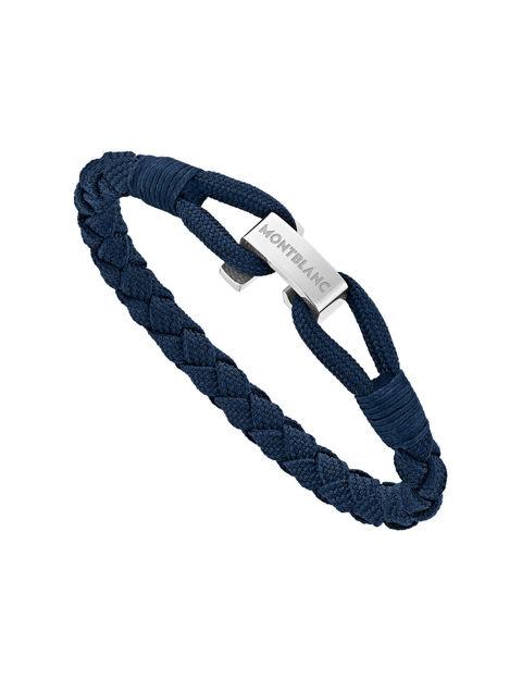 Montblanc Bilezik Naylon Çelik Mavi 12838368