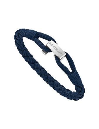 Montblanc Mavi Wrap Me Bileklik Naylon ve Çelik 12838363