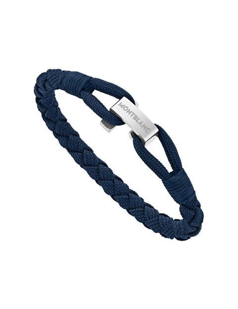 Montblanc Mavi Wrap Me Bileklik Naylon ve Çelik 12838360