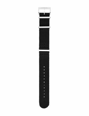 Montblanc Siyah Naylon Saat Kayışı 125844